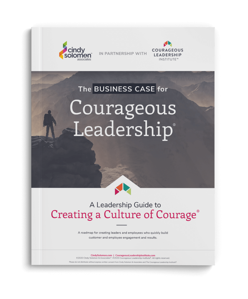 Image of the front page of The Business Case for Courageous Leadership, free on-site download